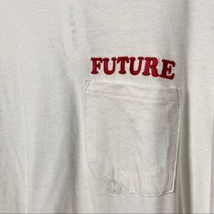 NWT Pacsun Future Pocket White Long Sleeve SZ M